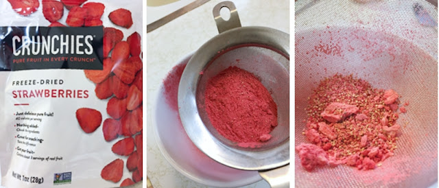 Freeze dried strawberries made into powder