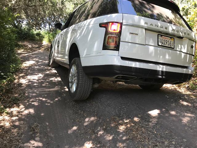 2019 Range Rover 3.0 liter Td6 Diesel rear 3/4 view