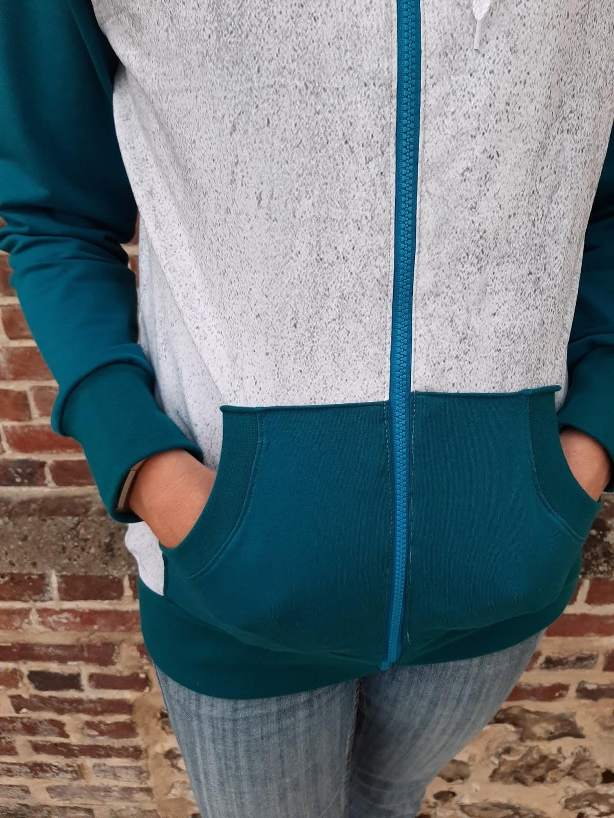 couture sweat zippé femme