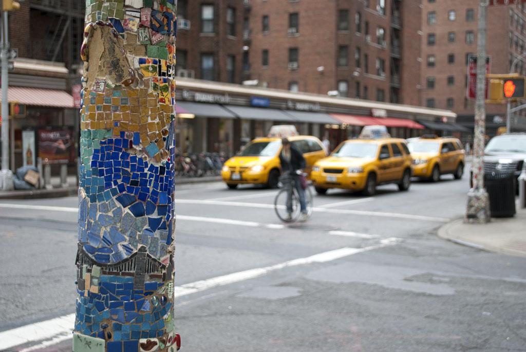 street photography NYC yellow cab