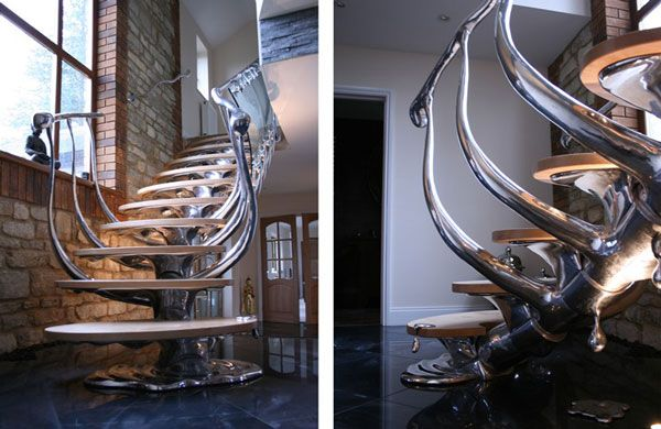 stainless steel staircase furniture