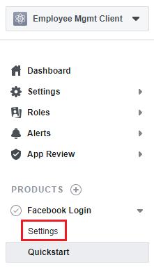 facebook create oauth app