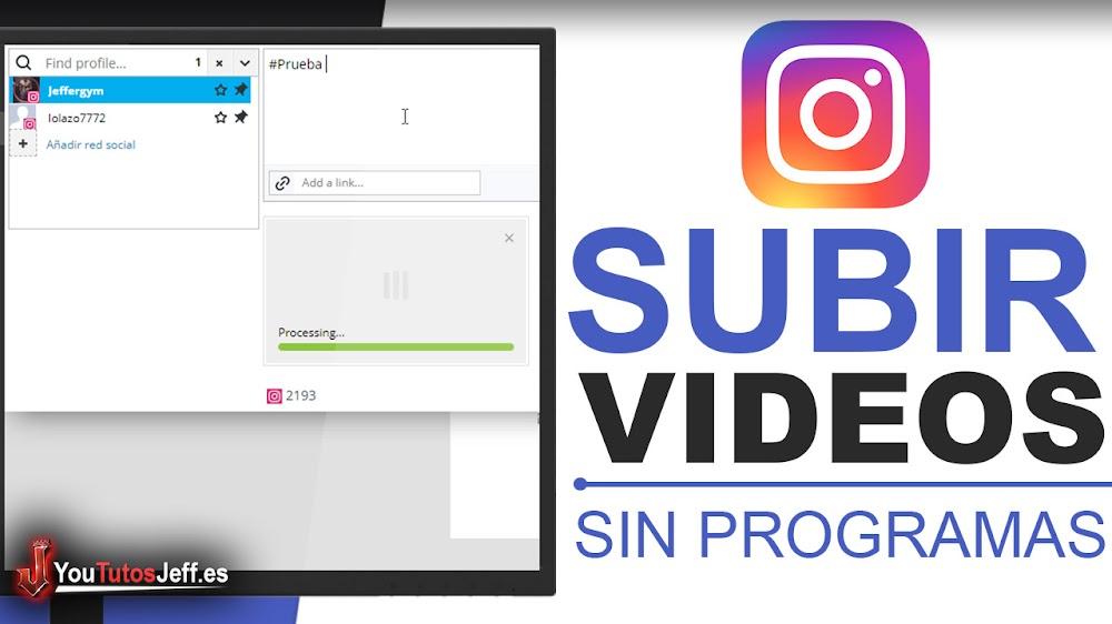 Como Subir Vídeos y Fotos a Instagram desde PC - Trucos Instagram