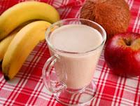 Bebida Quente de Banana, Maçã e Canela (vegana)