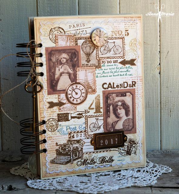 Kalendarz w stylu retro