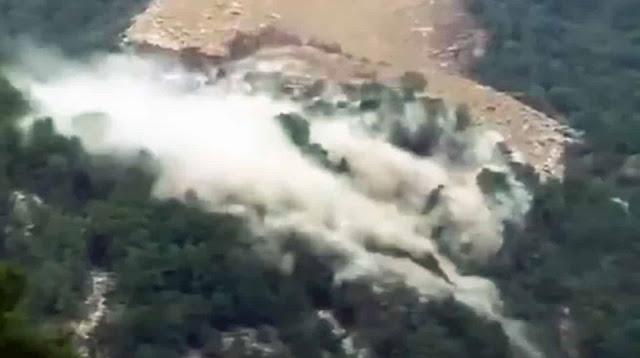 Video sạt lở đất ở thượng nguồn đập Tam Hiệp