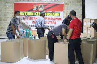 Polres Pelabuhan Makassar Berikan Bantuan Kemanusian Tahap II Untuk Masamba