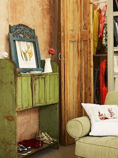 Bonito rincón en un mini loft vintage- industrial