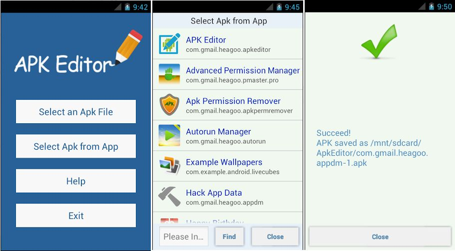 APK Editor App - Screenshots