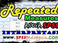 Cara Uji Repeated Measures Anova dengan SPSS serta Interpretasi