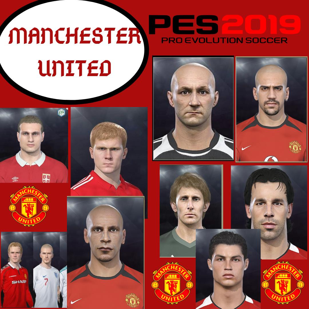 Manchester united face pes 2019