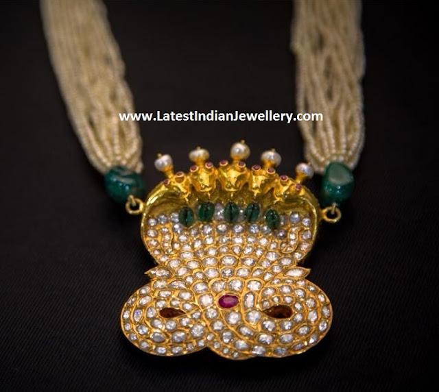 Mangatrai Naga Pendant Pearl Mala