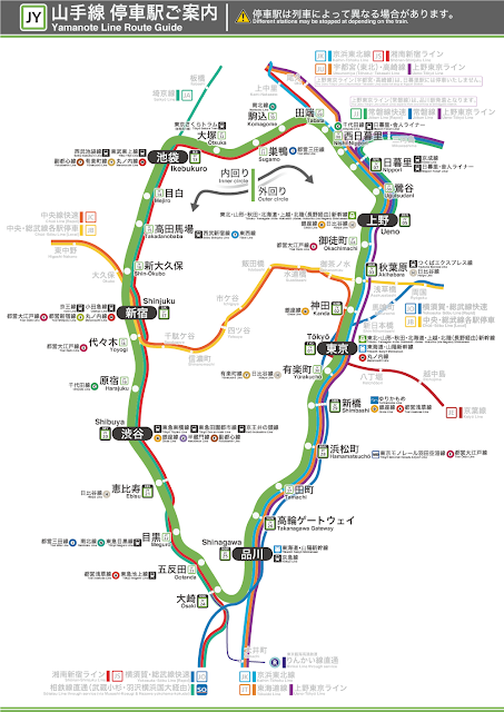 Yamanote Line Route Map