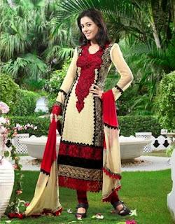 Amrita Rao's Red Designer Suit