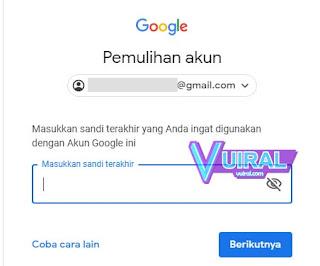 Cara Memulihkan Akun Google Lupa Sandi Dengan Nomor HP/Telepon 2