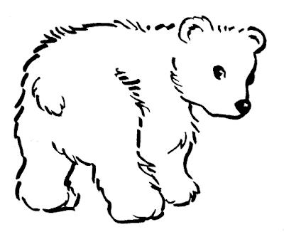 Gambar mewarnai beruang untuk anak - 6