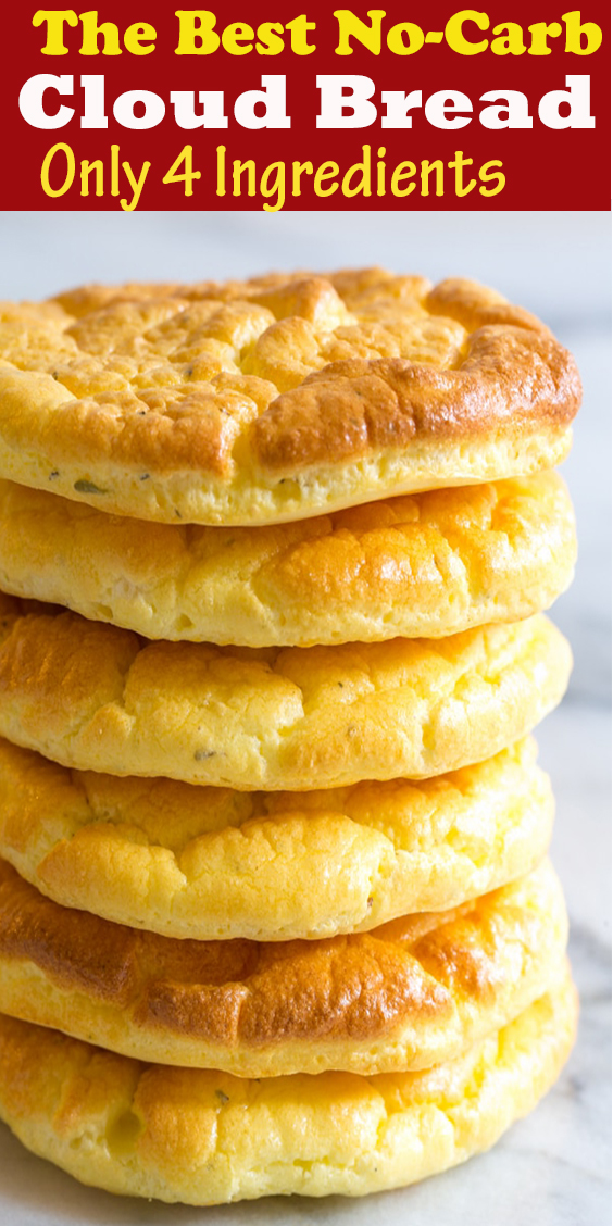The Best No-Carb Cloud Bread with Only 4 Ingredients #TheBest #No-Carb #Cloud #Bread #with #Only4Ingredients #TheBestNo-CarbCloudBreadwithOnly4Ingredients