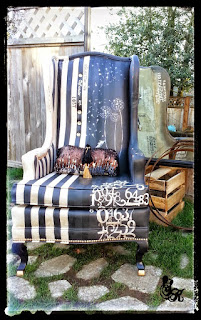 How to refinish an old chair in an amazing way.