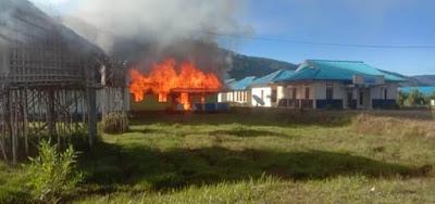 Kantor BKD pegaf terbakar