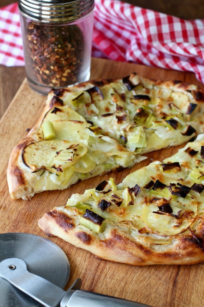 Potato and Leek Pizza