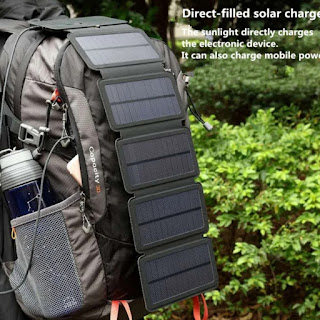 Sun Power 10W Solar Cell Charger 5V 2.1A USB Output 5 Panel