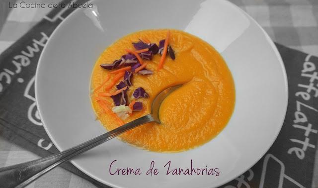 Crema de zanahoria, receta sencilla.