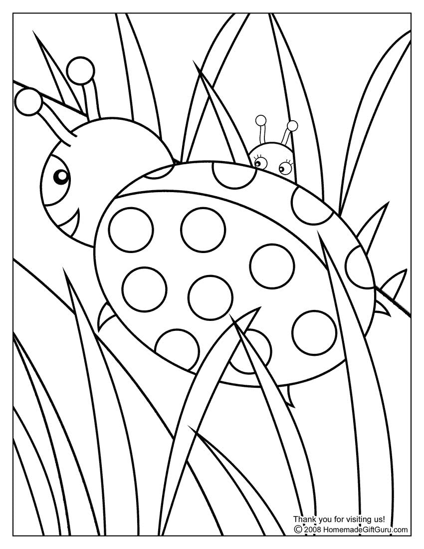 OODLES of DOODLES: Ladybug Coloring Pages