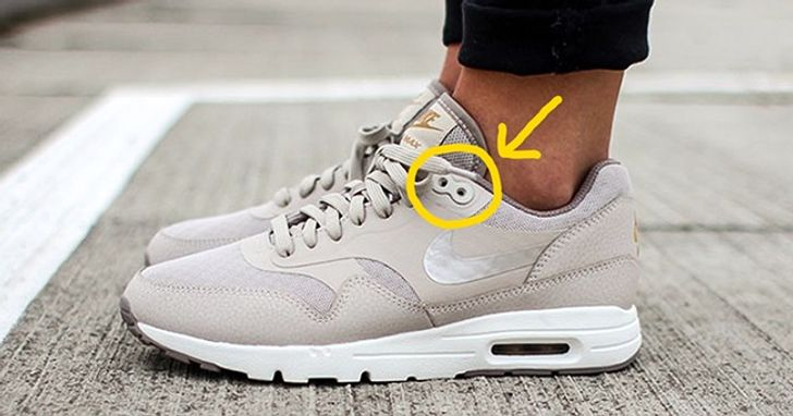 Extra holes on sneakers