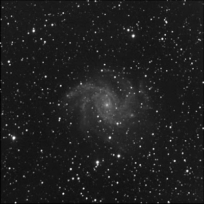 galaxy NGC 6946 with supernova 2017 eaw luminance