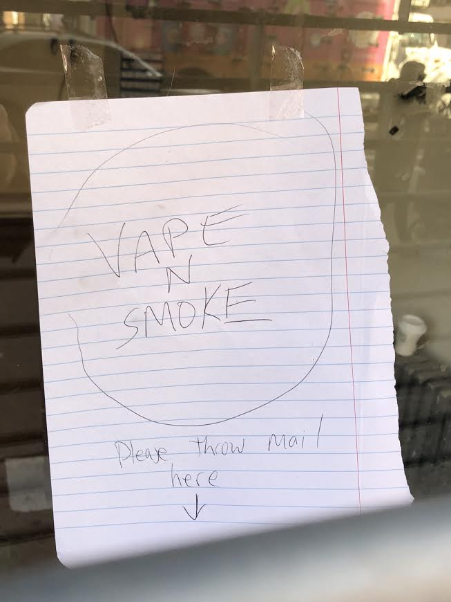 EV Grieve: Vape in store for 2nd Avenue?