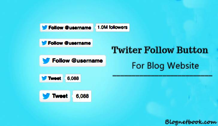 Twitter follow button for blog website