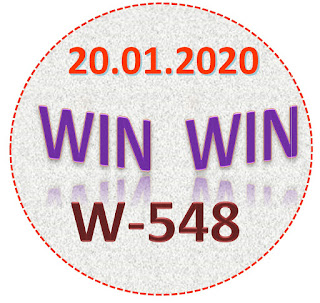 Kerala Lottery Result Win Win W-548  dated 20.01.2020