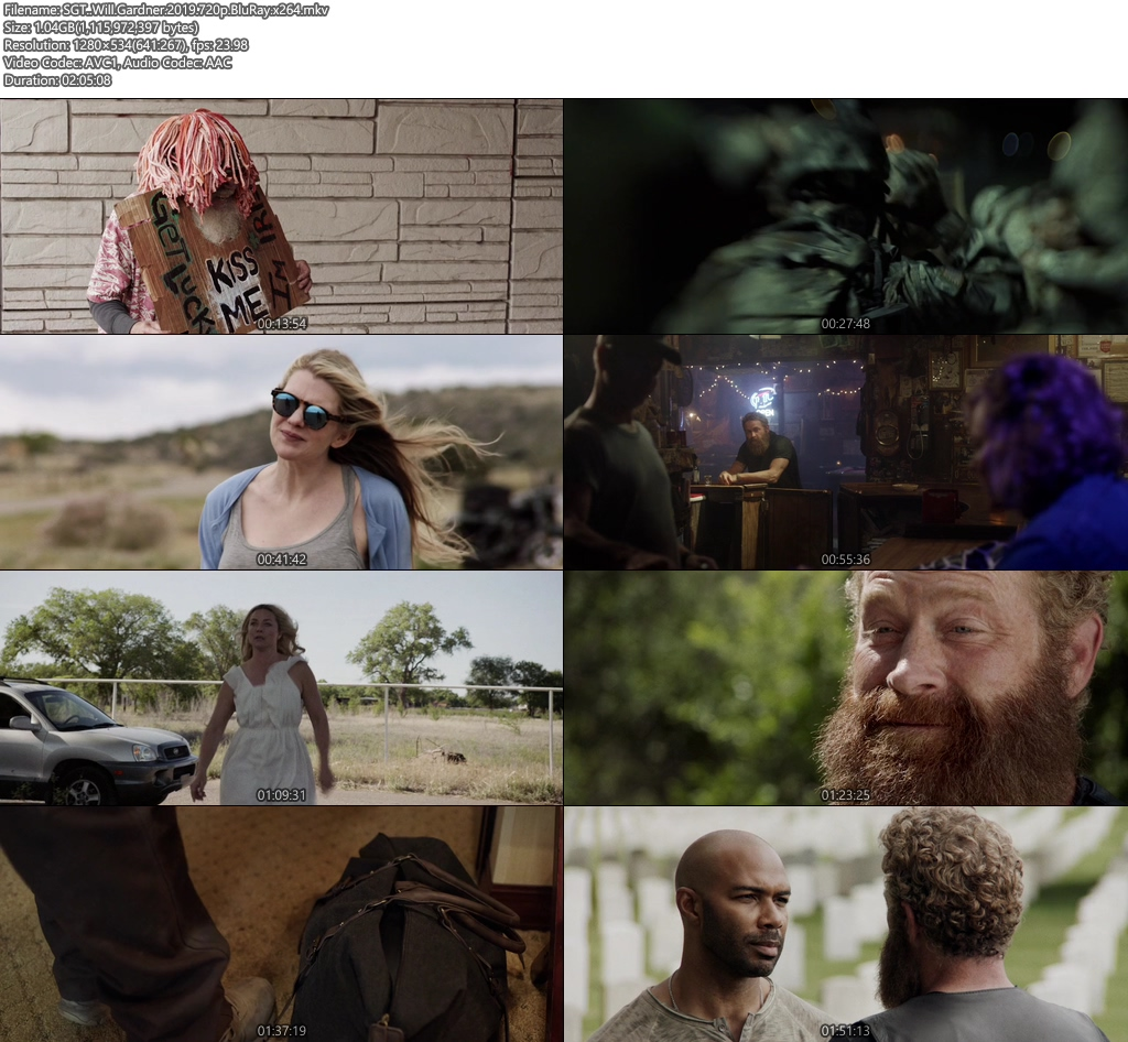 SGT. Will Gardner 2019 720p BluRay x264 | 480p 300MB | 100MB HEVC Screenshot