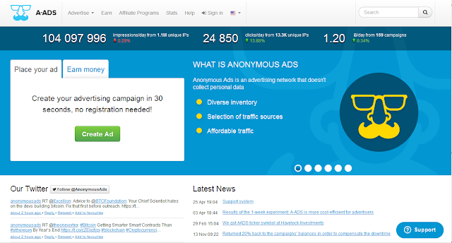 Cara menjadi publisher iklan a-ads
