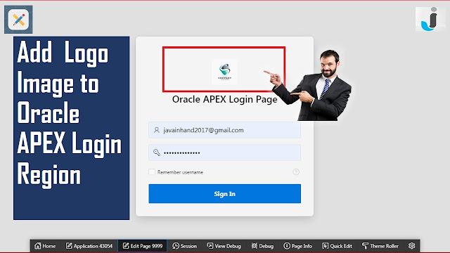 Add Logo Image to Oracle APEX Login Region