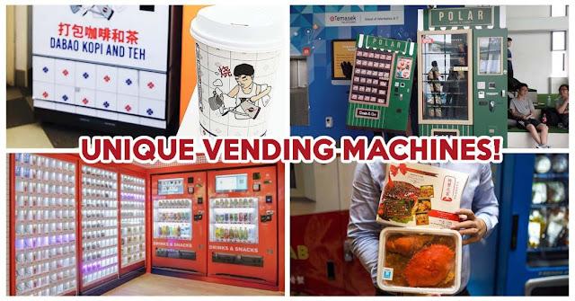 6 máy bán hàng tự động độc đáo tại Singapore