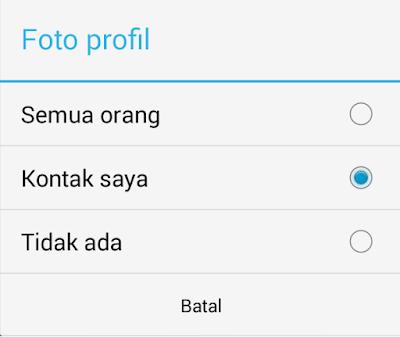Cara Menyembunyikan Foto Profil WhatsApp