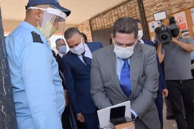 أمزازي في زيارة تفقدية أجواء اجتياز امتحانات نيل شهادة البكالوريا ثانوية الجنرال الكتاني التأهيلية بإقليم برشيد