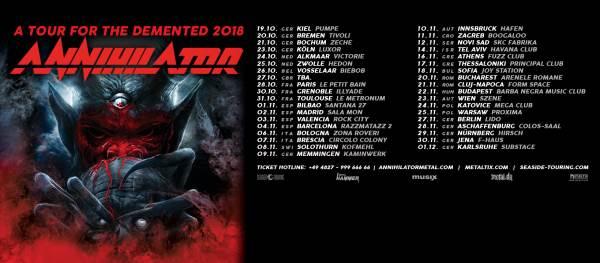 Annihilator tour