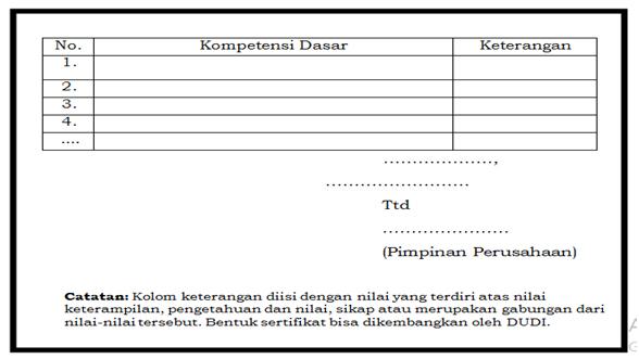 Penilaian dan Pemberian Sertifikat PKL (Praktik Kerja Lapangan) Siswa SMK