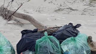 Desafio do lixo foi no Boqueirão Sul em Ilha Comprida