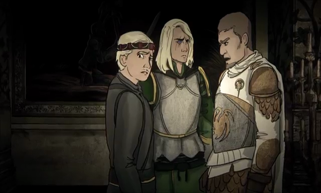Aegon Targaryen, Aemond Targaryen, Ser Criston Cole - Game of Thrones