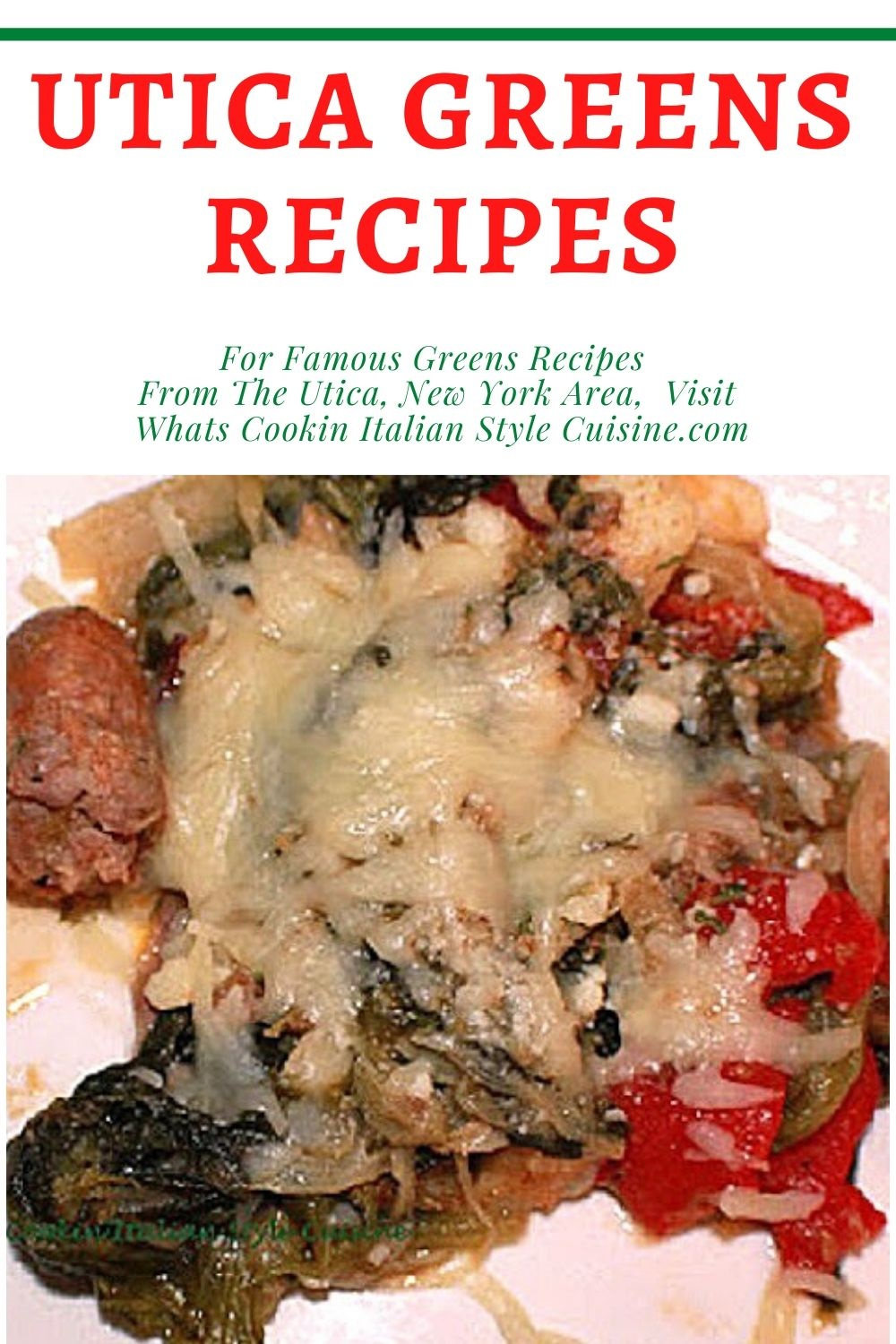 pin for later on how to make Utica New York greens from local restaurants copycat recipe