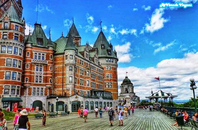O belo chateau frontenac em Quebec, Canadá