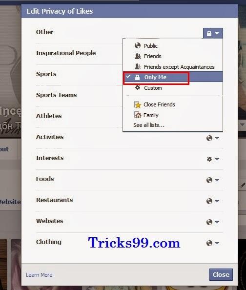 hide photos in facebook