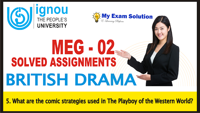 the playboy of western world, ignou assignments, the playboy of western world comic strategis, ignou, meg solved assignments,