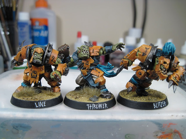 Line-orc, Thrower and Blitzer