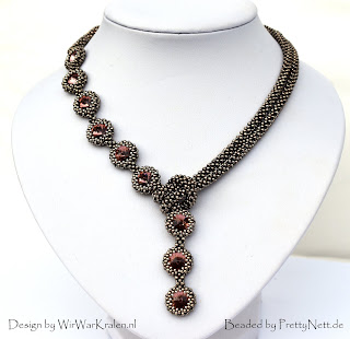 "Necklace ""Angelique"" - beaded by PrettyNett.de"