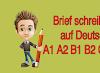Brief schreiben  auf deutsch A1 A2 B1 B2 C1 C2