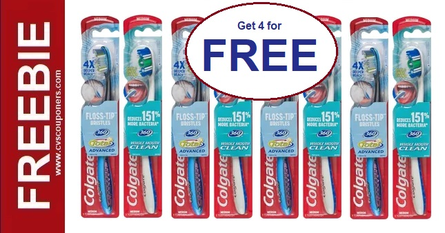 FREE Colgate Toothbrush CVS Deals